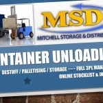 MSD Container Unload & De-stuff service, Palletisation & Storage. Online Stocklists & Inventory (read more)
