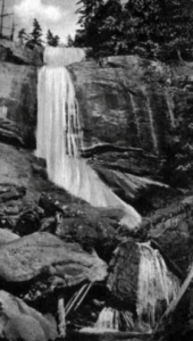 The original Crabtree Falls which is located on Crabtree Road.