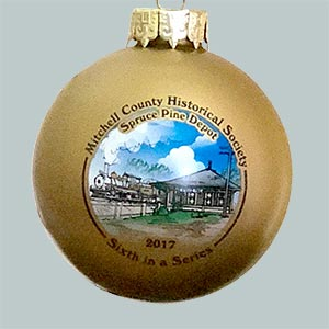 Photo of the Spruce Pine Depot ornament