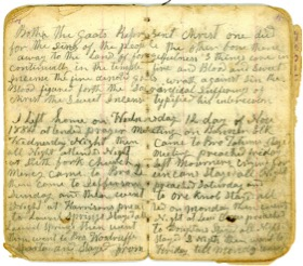 Pages from S.M. Collis Diary (Courtesy of Mary Lee Barron)