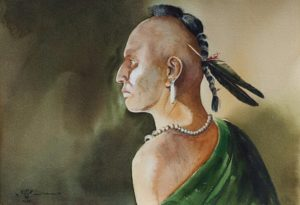 Painting of a Native American Warrior