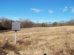 Photo of a field where GIlbert Town, North Carolina was located