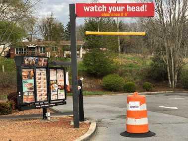 Photo of Burger King Drive-Through Blocked Off