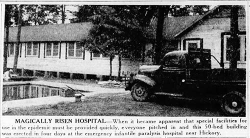 Photo of the Hickory Polio Hospital