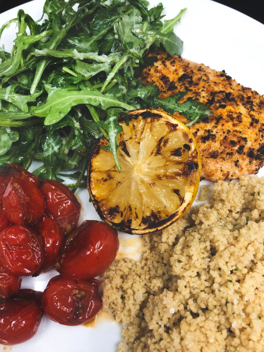Chicken Paillard With Arugula Salad And Blistered Cherry Tomatoes Mitch In The Kitch