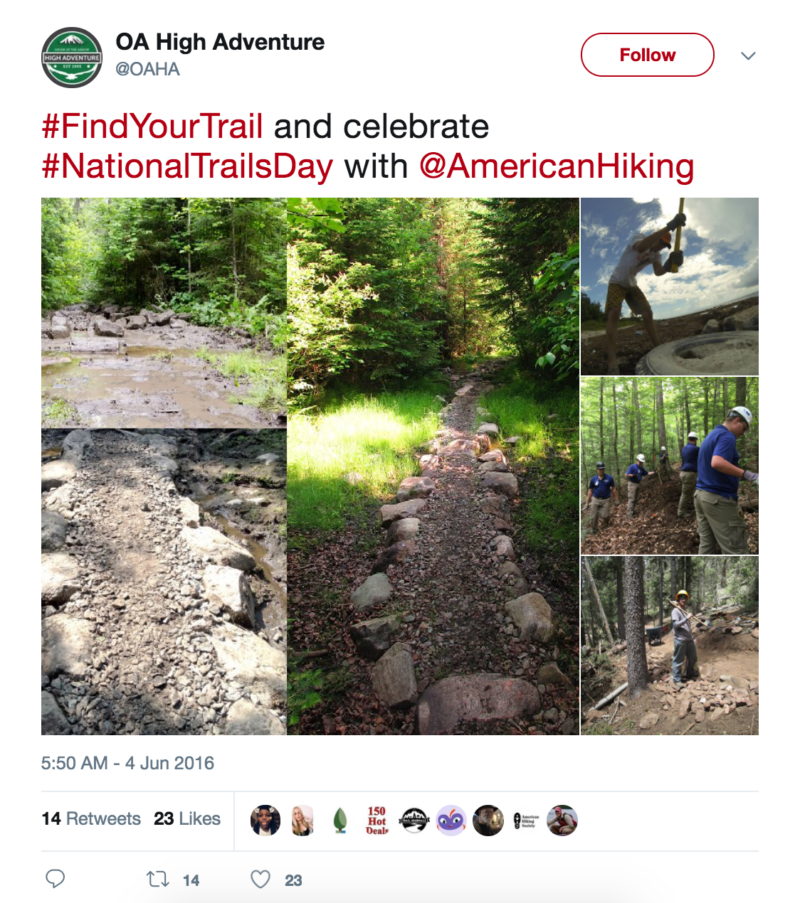 Find Your Trail OAHA Twitter