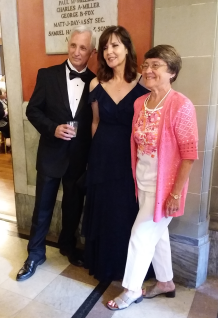 Posing with my gorgeous wife (center) and a friend