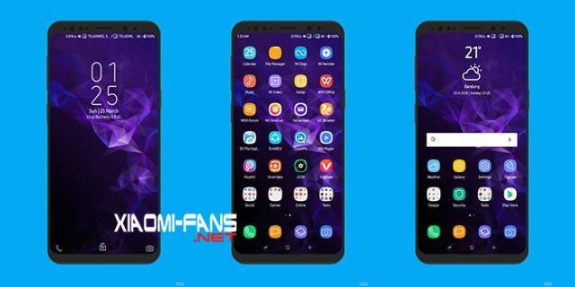 Download Tema Samsung Galaxy S9+ Xiaomi MIUI 9