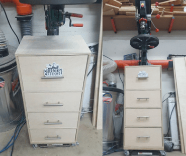 Miter Mike's Drill Press Cabinet for the FastCap KISS Drill Bit System
