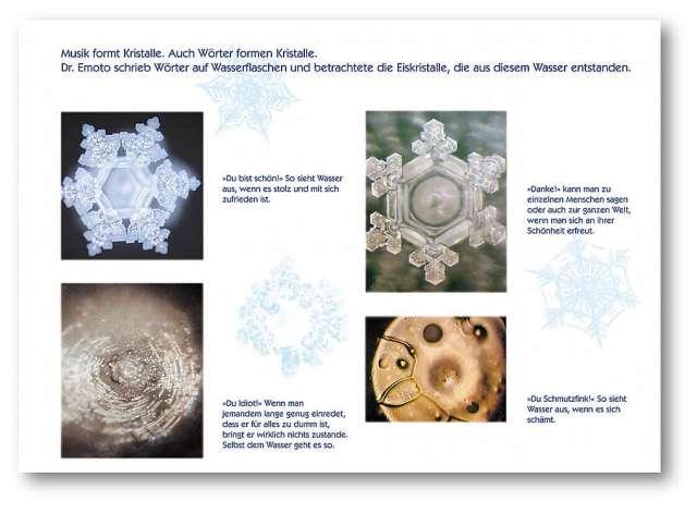 Dr. Emoto Eiskristalle und Wörter