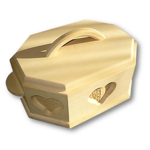 Brotkasten aus Zirbenholz mit Schnitzerei