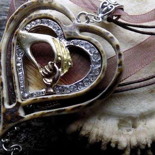 Trachtenschmuck Herzanhänger