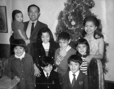 Pictured with seven of her eight kids. My youngest brother was born 5 years after this photo was taken.