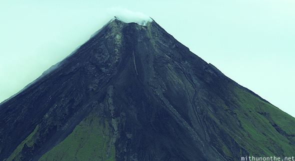 Philippines: Aerial view of Mount Mayon; arriving at Coron