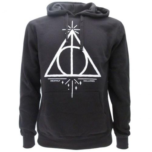 Felpa con cappuccio Harry Potter Doni della Morte