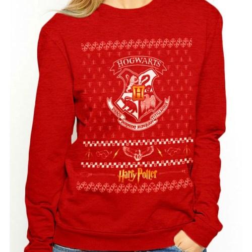 Felpa Hogwarts Natalizia Harry Potter
