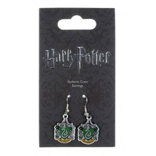 Orecchini Stemma Casata Serpeverde Harry Potter confezione