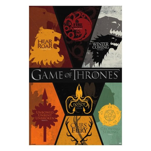 poster game of thrones stemmi casate