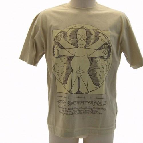 T-Shirt The Simpsons Homer Uomo Vitruviano