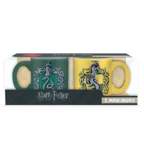 Tazzine da caffè Serpeverde e Tassorosso Harry Potter