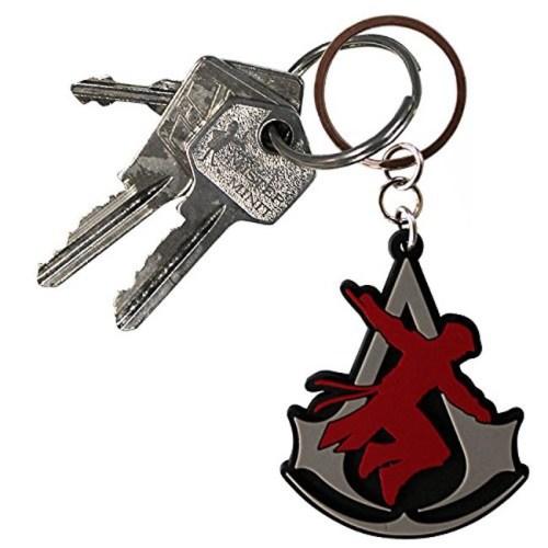 Portachiave Assassin's Creed in gomma dettaglio chiavi