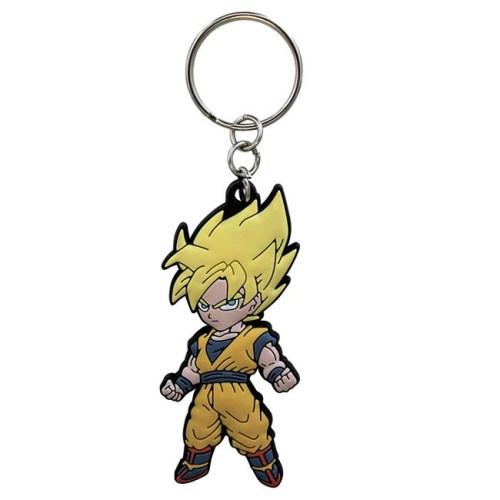 Portachiavi Dragon Ball Goku Super Sayan in gomma