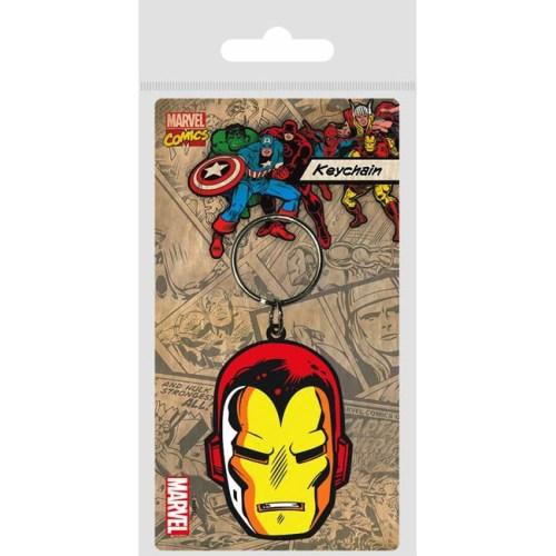 Portachiavi Iron Man Marvel in gomma