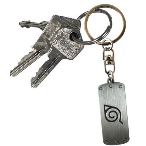 Portachiavi Naruto Shippuden placca del villaggio della foglia dettaglio chiavi