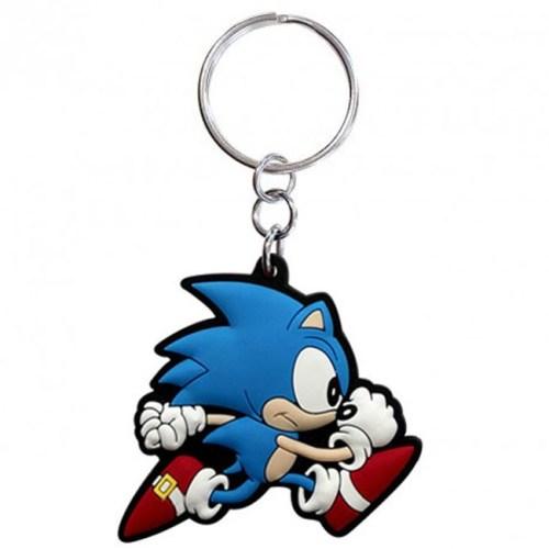 portachiavi Sonic corre in gomma