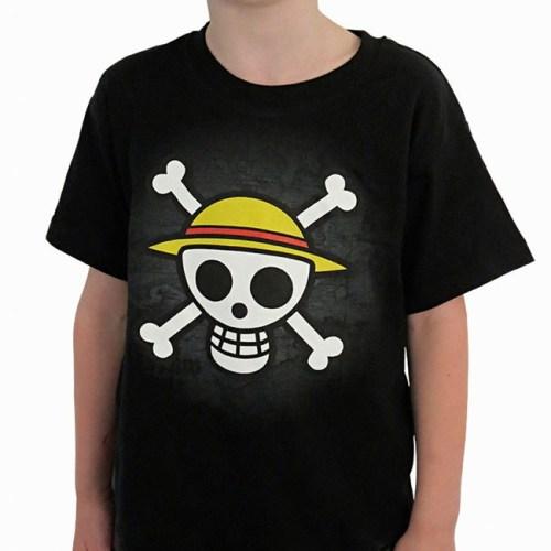 t-shirt da bambini con stemma e mappa one piece