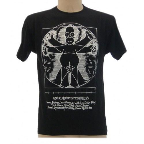t-shirt homer vitruviano nera simpson