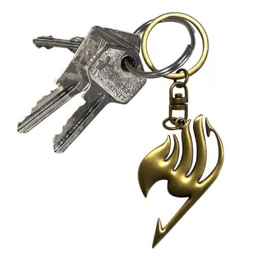 portachiave Stemma 3D dorato Fairy tail dettaglio chiavi