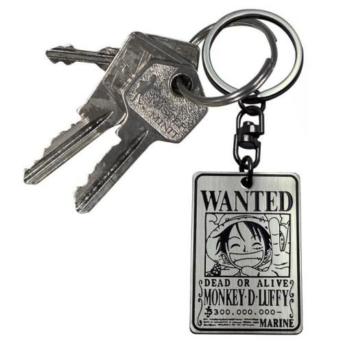 portachiavi wanted luffy one piece dettaglio chiavi