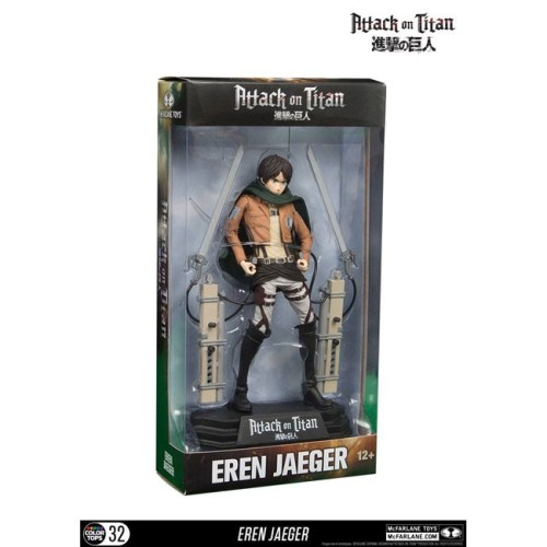Action Figure Eren Jeger Attack on Titan scatola