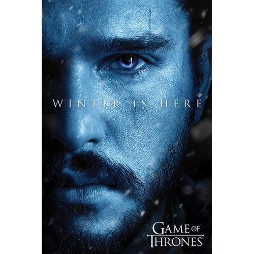Poster Game of Thrones Winter is Here Jon Snow