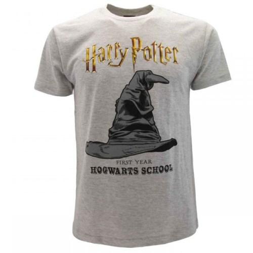 t-shirt grigia Cappello Parlante harry potter