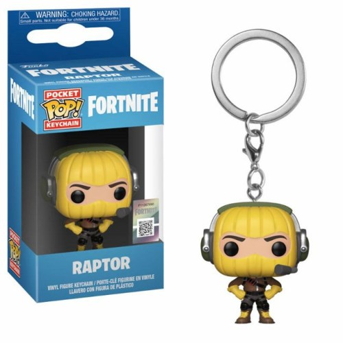 funko pocket keychain Raptor fortnite