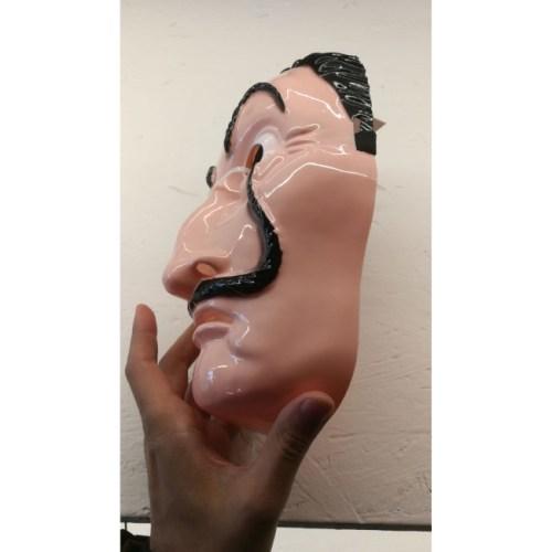 Maschera Salvador Dali Casa de Papel laterale