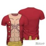 t-shirt full print Monkey d Luffy One Piece