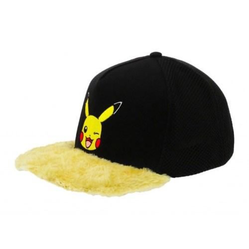Cappello con visiera in peluche Pikachu Pokemon
