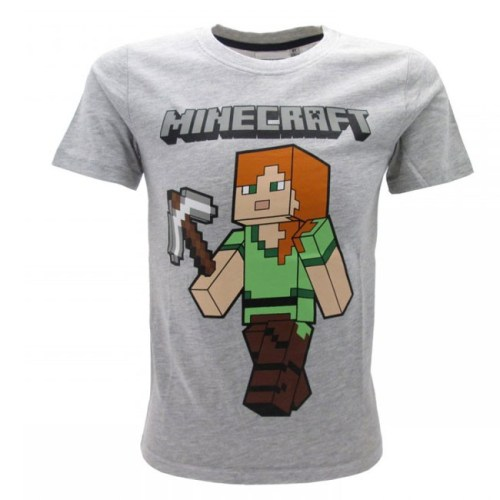 t-shirt grigia Minecraft