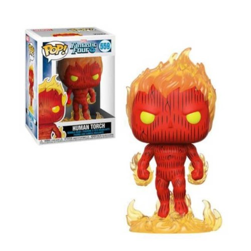 Funko Pop Human Torch Fantastic Four Marvel 559