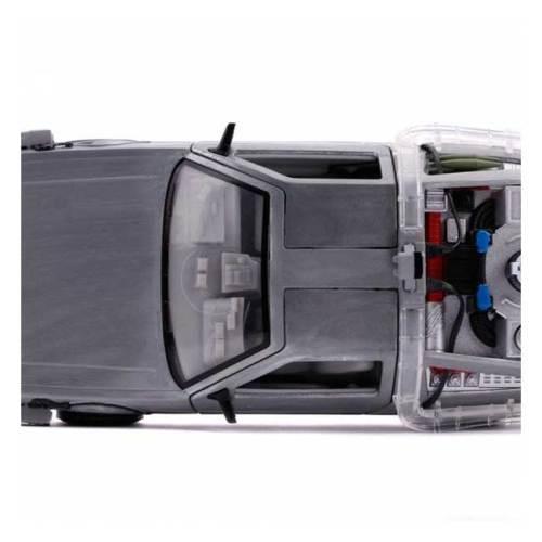 Modellino Delorean scala 1/24 Backto the Future con Luci dettaglio alto