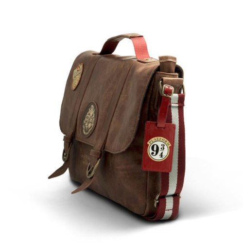 Borsa tracolla effetto pelle School of Witchcraft and Wizardry laterale