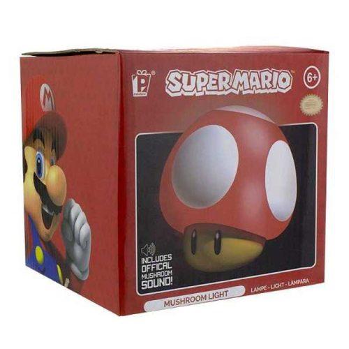Lampada Funghetto Super Mario con suoni scatola