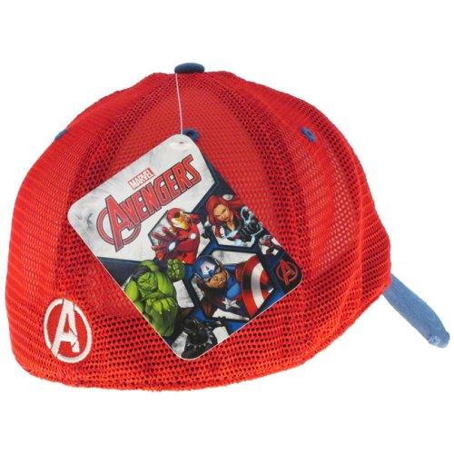 Cappello con visiera Capitan america scudo Marvel laterale retro