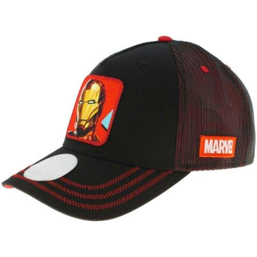Cappello con visiera Iron Man Marvel dettaglio laterale
