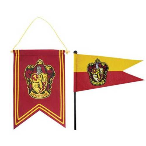 Set Gagliardetto e Bandierina Grifondoro Harry Potter
