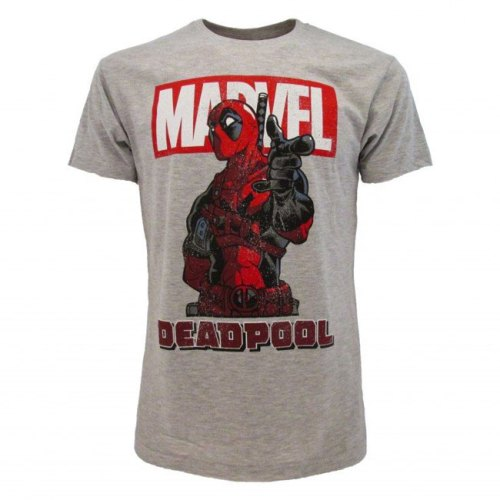 T-Shirt Grigia Deadpool