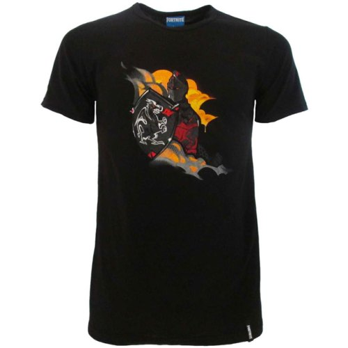 T-shirt nera Fortnite Cavaliere Nero